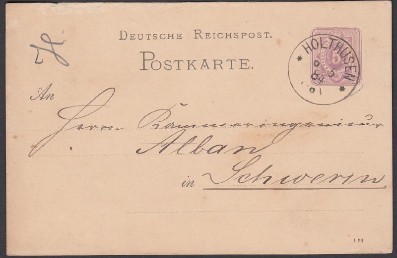 Rundstempel des Deutschen Reiches auf Karte oder Brief Holthu10