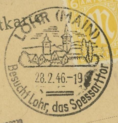 1945 - Ortswerbestempel - Deutschland nach 1945 (Handstempel) Lohr_210