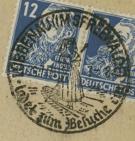 1945 - Ortswerbestempel - Deutschland nach 1945 (Handstempel) Lybben10