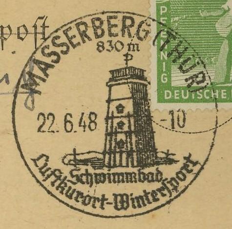 1945 - Ortswerbestempel - Deutschland nach 1945 (Handstempel) Masser10