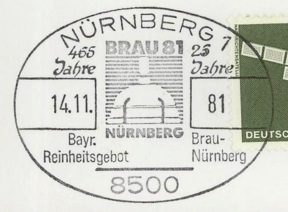 Briefmarken - Bier: Briefmarken, Stempel,Belege und mehr Nyrnbe10