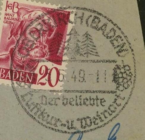 1945 - Ortswerbestempel - Deutschland nach 1945 (Handstempel) Oberki10