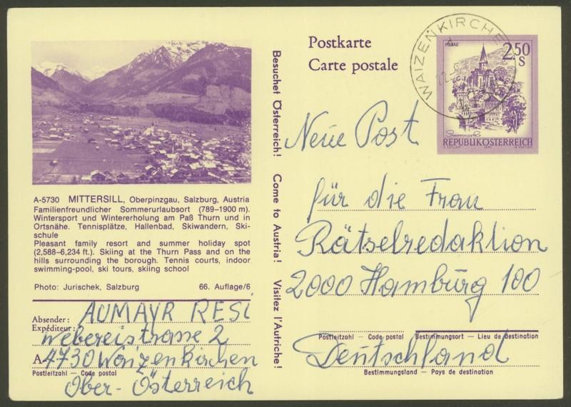 """Ganzsachen mit Wertstempel """"Schönes Österreich"""" - Seite 2 P_442_12"""