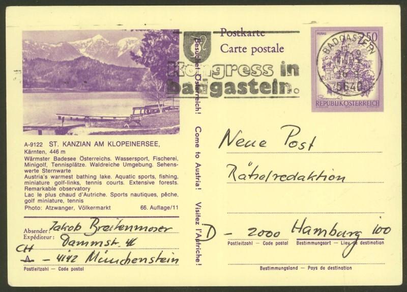 """Ganzsachen mit Wertstempel """"Schönes Österreich"""" - Seite 2 P_442_15"""