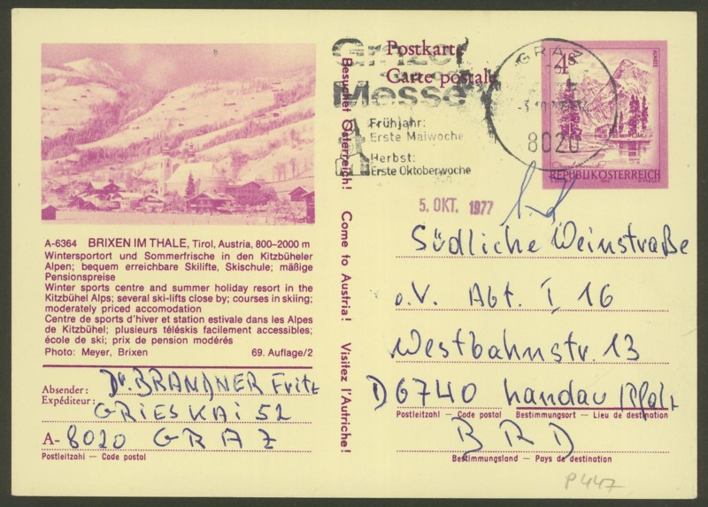 """Ganzsachen mit Wertstempel """"Schönes Österreich"""" - Seite 2 P_447_16"""