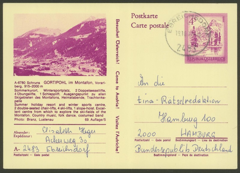 """Ganzsachen mit Wertstempel """"Schönes Österreich"""" - Seite 2 P_447_18"""