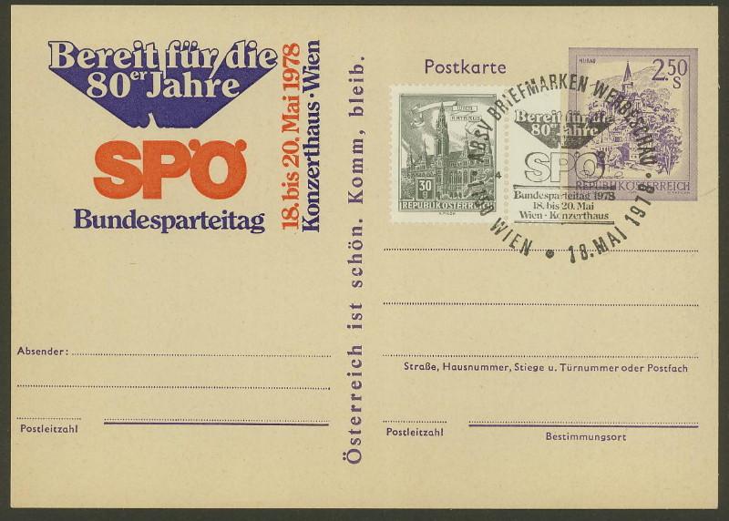 """Wertstempel """"Schönes Österreich"""" - Zudrucke auf Ganzsachen P_448_10"""