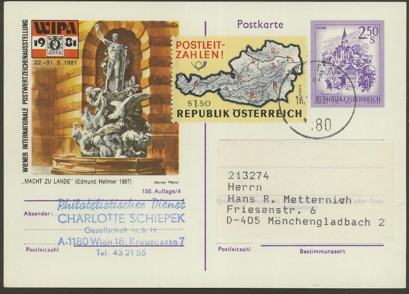 """Wertstempel """"Schönes Österreich"""" - Zudrucke auf Ganzsachen P_450_10"""
