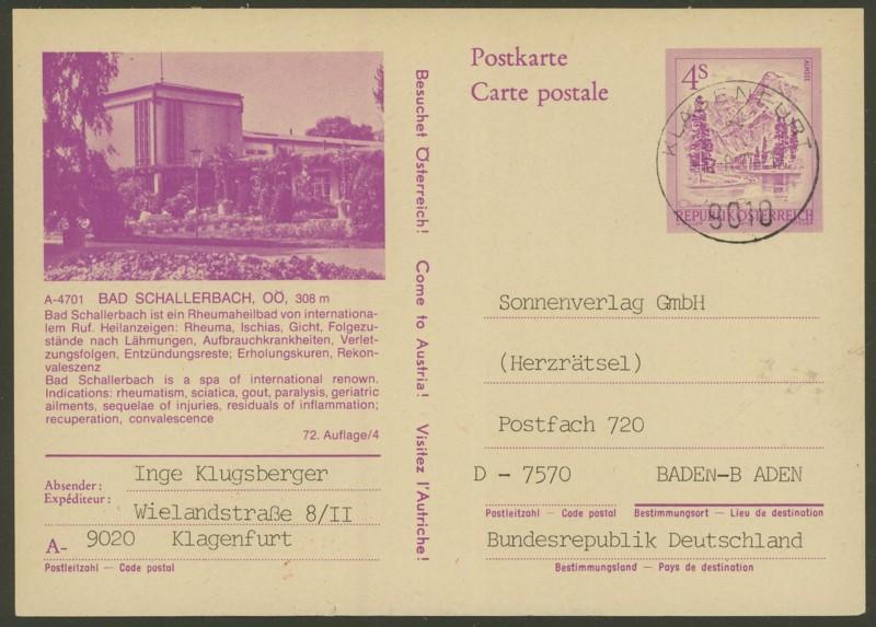 """Ganzsachen mit Wertstempel """"Schönes Österreich"""" - Seite 2 P_453_10"""