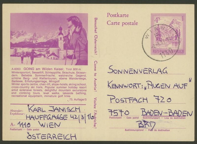 """Ganzsachen mit Wertstempel """"Schönes Österreich"""" - Seite 2 P_453_19"""