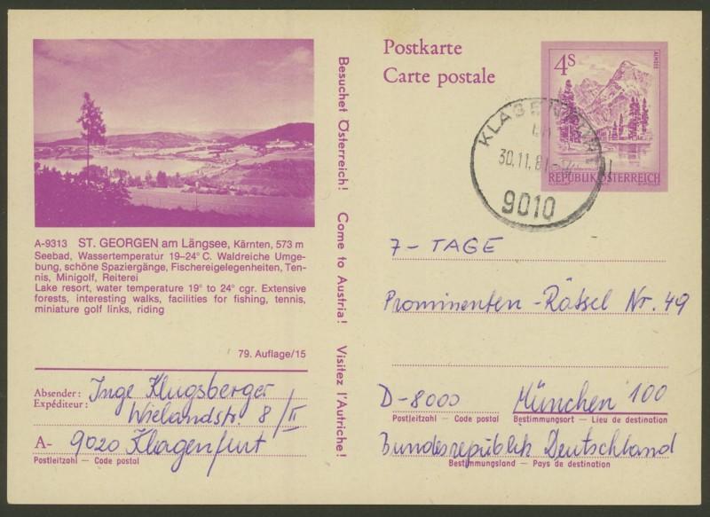 """Ganzsachen mit Wertstempel """"Schönes Österreich"""" - Seite 2 P_453_31"""