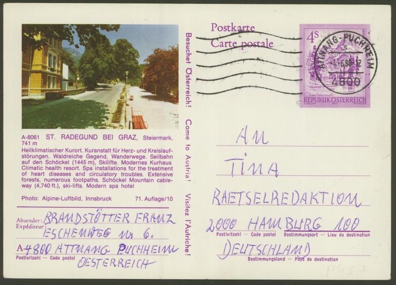 """Ganzsachen mit Wertstempel """"Schönes Österreich"""" - Seite 2 P_457_14"""