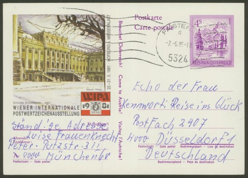 """Ganzsachen mit Wertstempel """"Schönes Österreich"""" - Seite 2 P_457_16"""