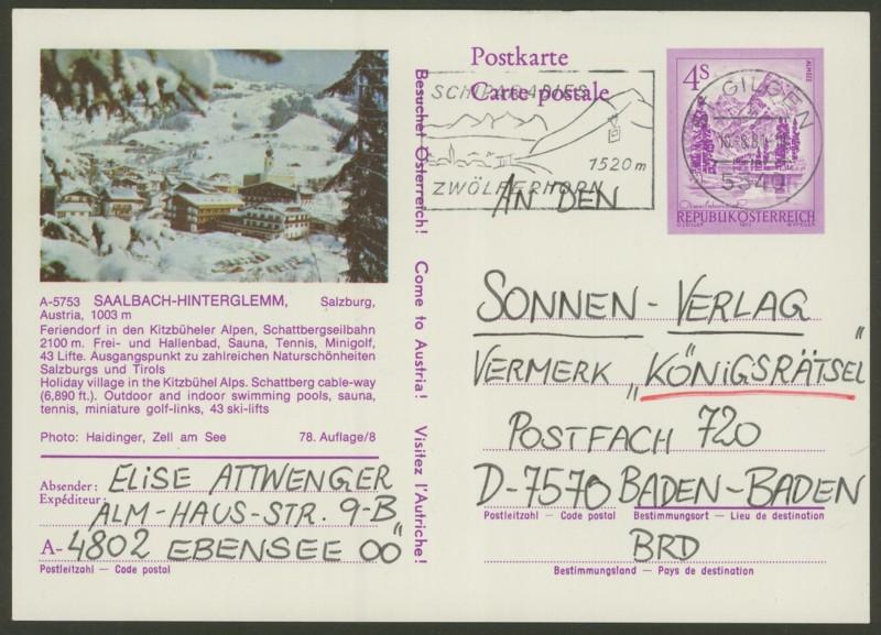"""Ganzsachen mit Wertstempel """"Schönes Österreich"""" - Seite 2 P_457_32"""