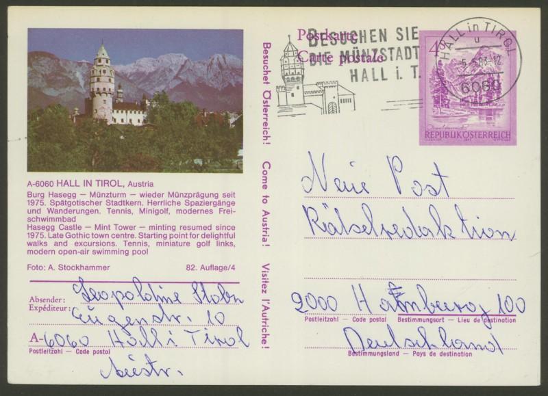 """Ganzsachen mit Wertstempel """"Schönes Österreich"""" - Seite 2 P_457_50"""