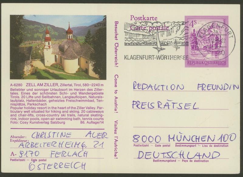 """Ganzsachen mit Wertstempel """"Schönes Österreich"""" - Seite 2 P_457_74"""