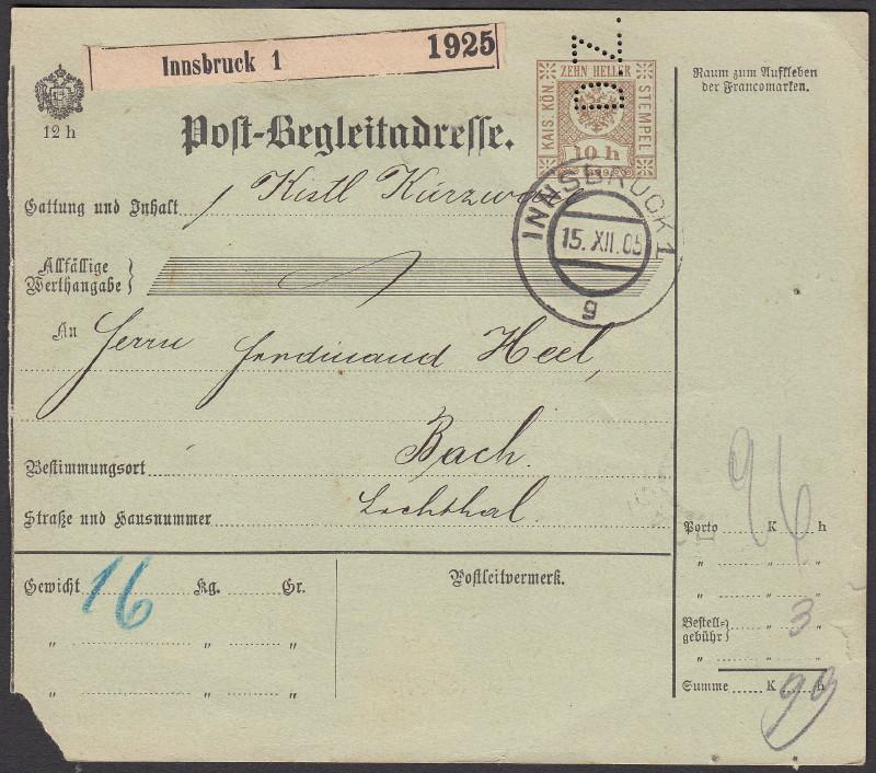 Buchprojekt HILFE - Stempel aus Innsbruck auf Belegen gesucht - Seite 2 Pbegla11