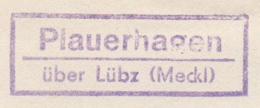 Ortsstempel aus Mecklenburg-Vorpommern Plauer11