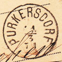 Fingerhutstempel auf Freimarkenausgabe 1867 Purker11
