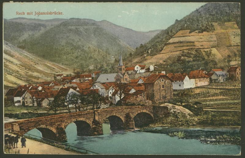 Post / Ansichtskarten mit Brücken Rech_j10