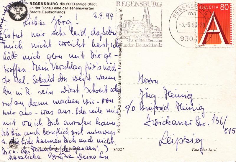 Postunion Deutschland - Schweiz ? Regens10
