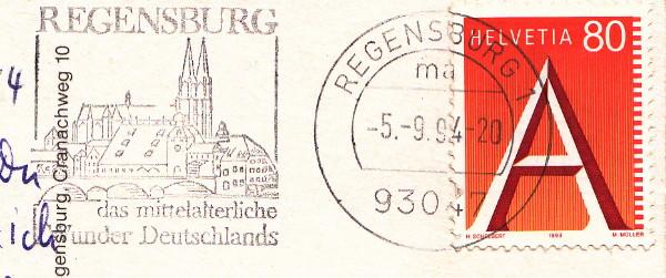 Deutschland - Postunion Deutschland - Schweiz ? Regens11