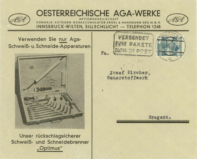 Werbeumschläge und -karten aus Österreich Schwei10