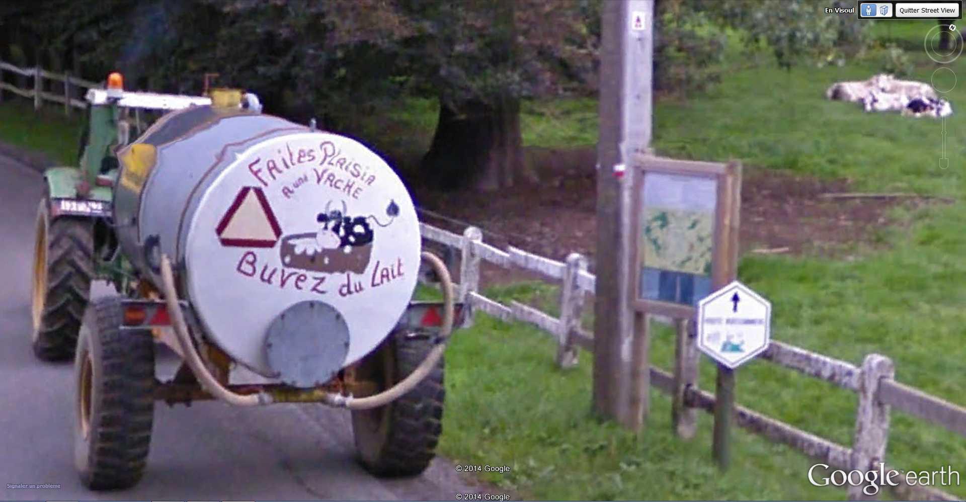 STREET VIEW : Humour paysan - Vervoz - Belgique 2014-084