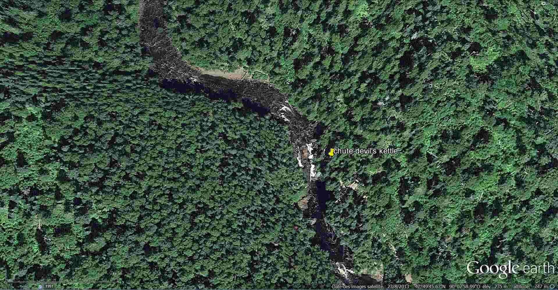 Disparition d'une demi rivière à la marmite du diable - Minnesota - USA 2014-390