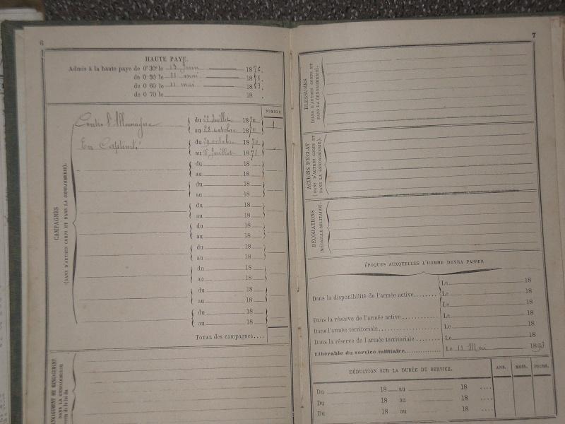 papiers divers et livrets d'un Gendarme.... 00220