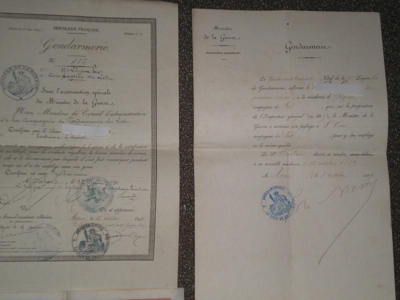 papiers divers et livrets d'un Gendarme.... 00413