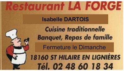 SAINT-HILAIRE EN LIGNIERES - RESTAURANT LA FORGE - Cuisine traditionnelle, banquet, repas de famille St-hil10