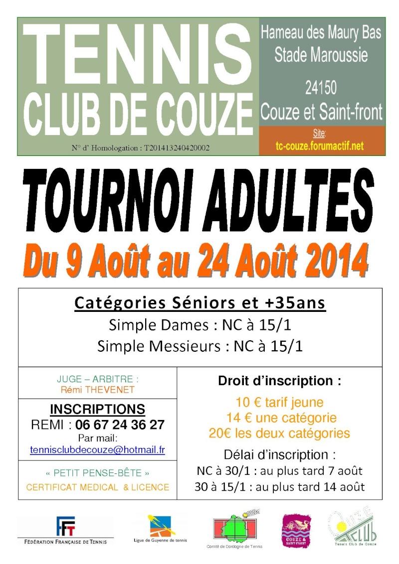 Notre Tournoi ADULTES commence le 09 AOUT 2014 Tourno10