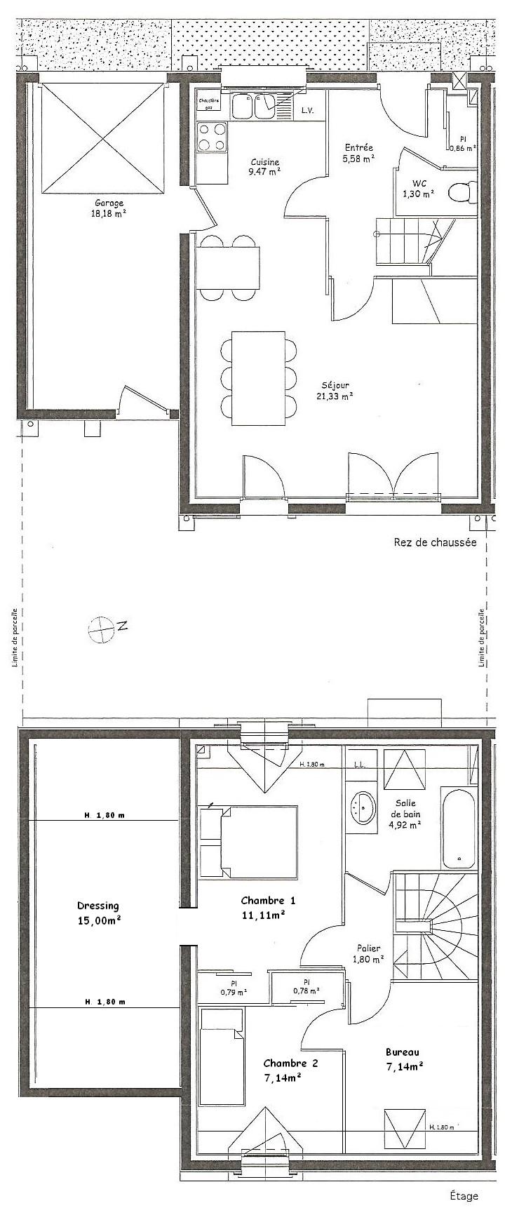 A louer Maison T3 bis Chambray-les-tours Plan_m10