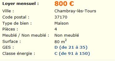 A louer Maison T3 bis Chambray-les-tours Sans_t13