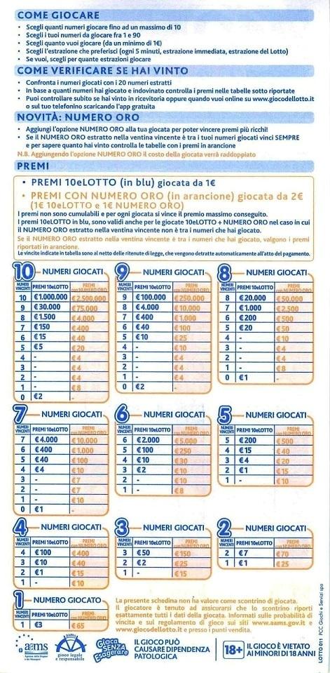 Novità 10elotto, arriva il Numero ORO .. dal 25 giugno 2014 1pr11