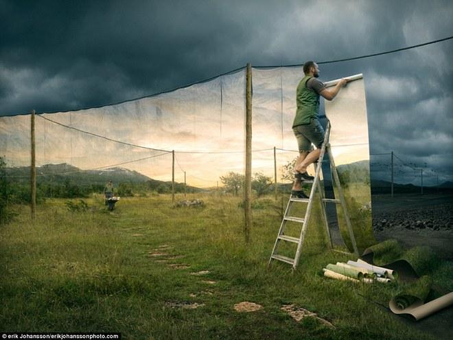 Loạt ảnh photoshop thực - ảo _ Nhiếp ảnh gia Erik Johansson Anh-si16