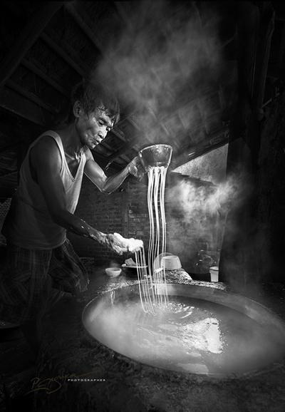 Mộc mạc nghề bún cổ truyền Bình Định Lam-bu12