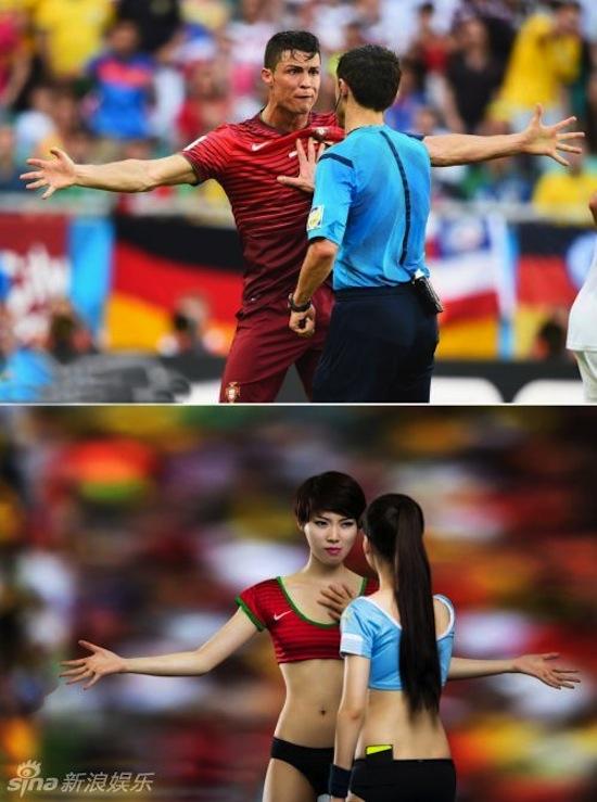 Khi người đẹp tạo dáng giống cầu thủ World Cup My_nha10