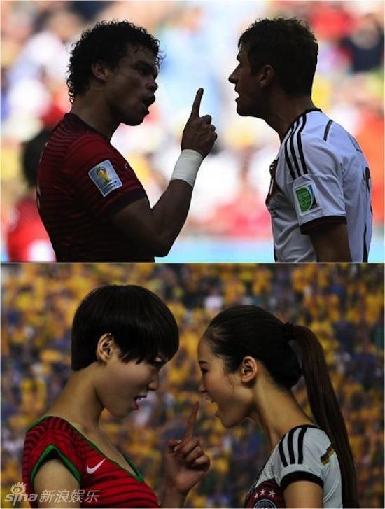 Khi người đẹp tạo dáng giống cầu thủ World Cup My_nha14