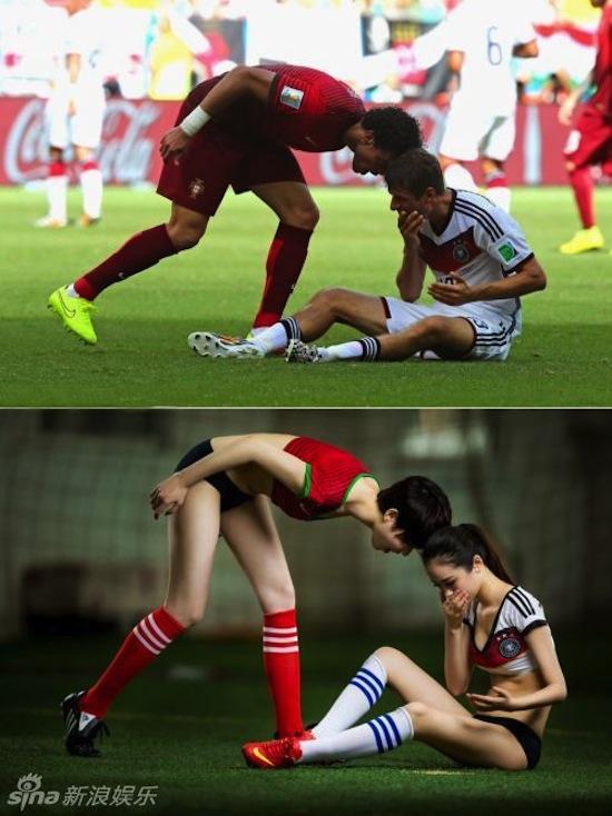 Khi người đẹp tạo dáng giống cầu thủ World Cup My_nha16