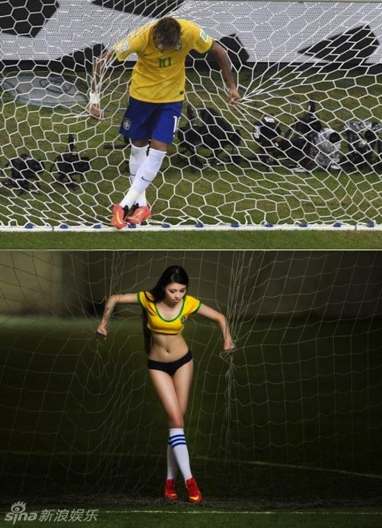 Khi người đẹp tạo dáng giống cầu thủ World Cup My_nha17