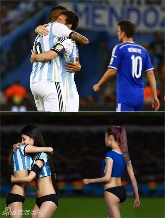 Khi người đẹp tạo dáng giống cầu thủ World Cup My_nha19
