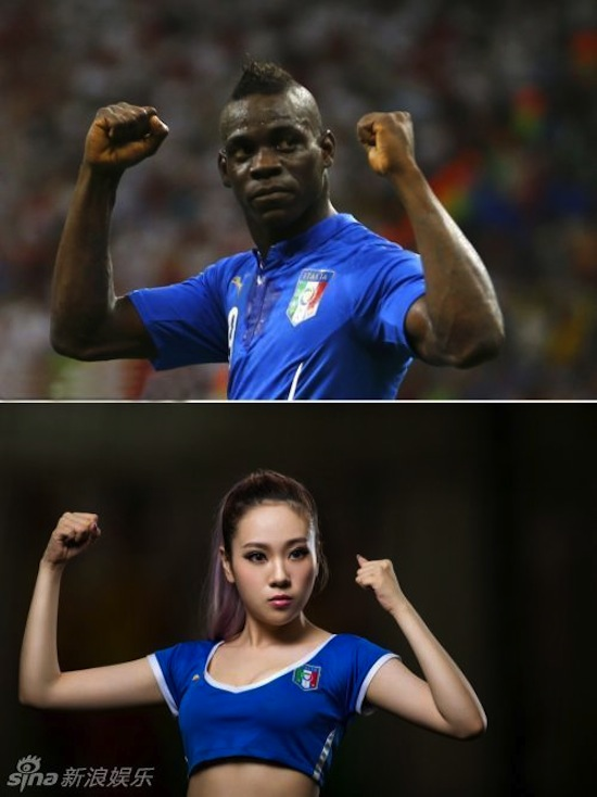Khi người đẹp tạo dáng giống cầu thủ World Cup My_nha20
