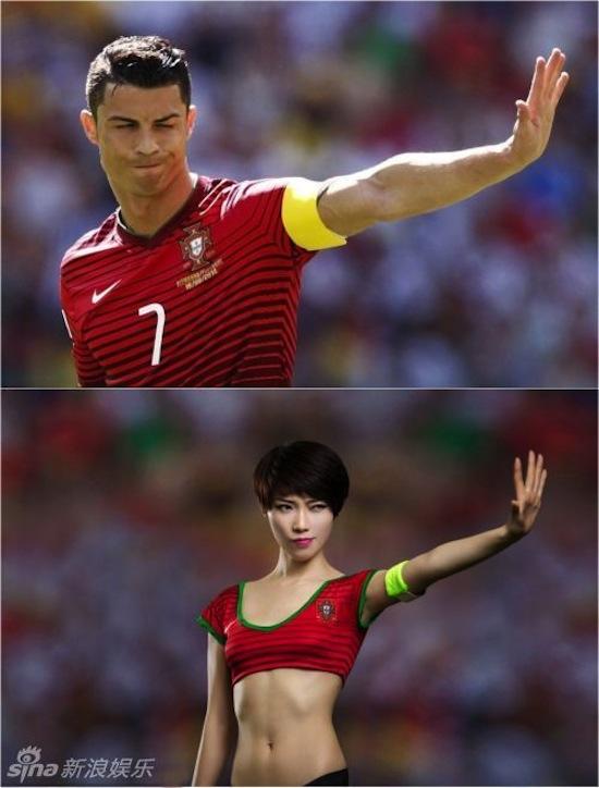 Khi người đẹp tạo dáng giống cầu thủ World Cup My_nha24
