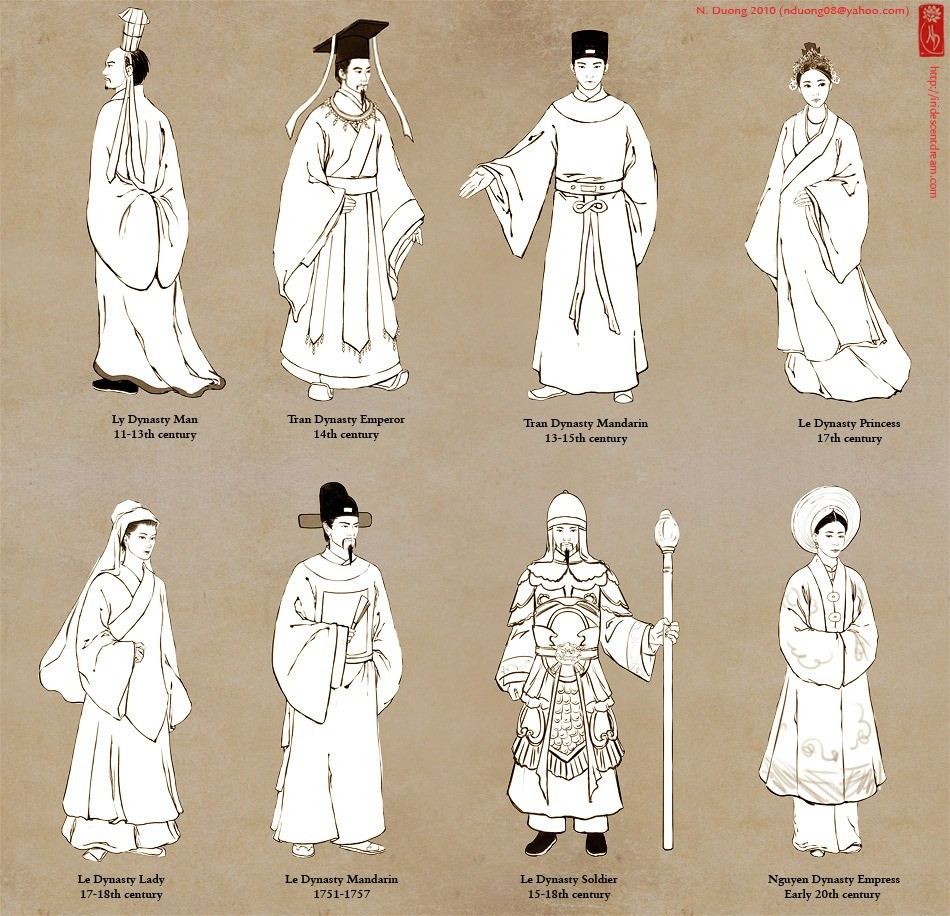 Hình ảnh về trang phục lịch sử Việt Nam Tumblr11