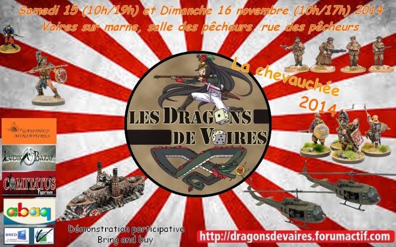 6° chevauchée des dragons de Vaires le 15 et 16/11/14 Affich12