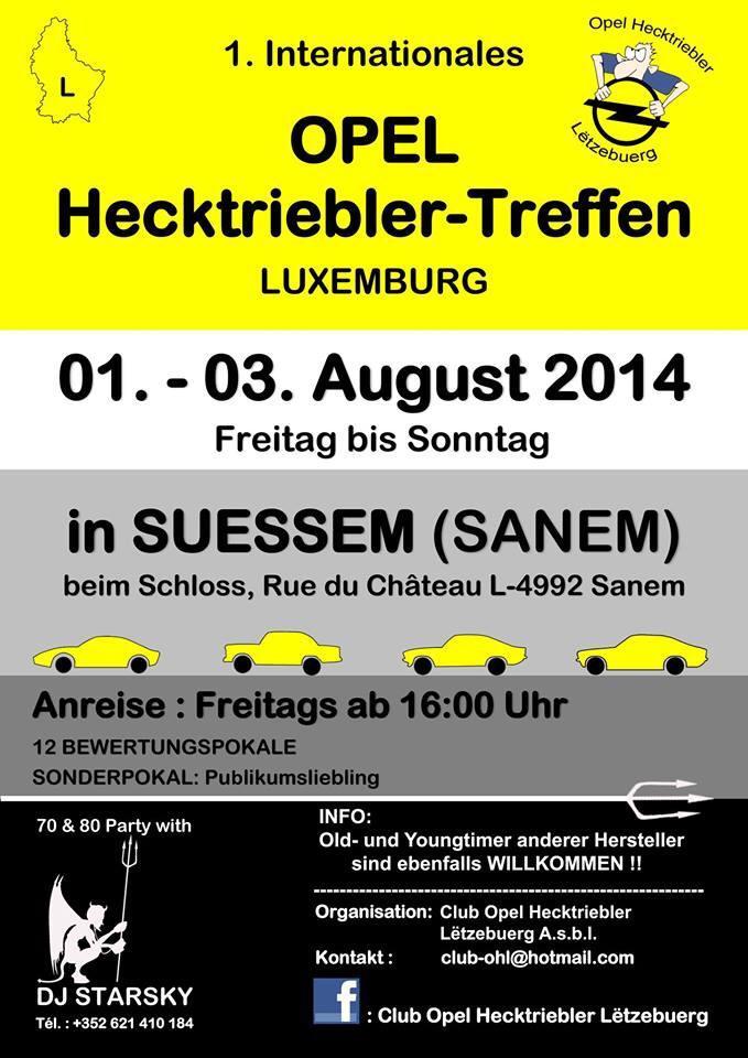 1. Opel Hecktriebler-Treffen in Luxembourg am 1.-3.8.2014 10154010