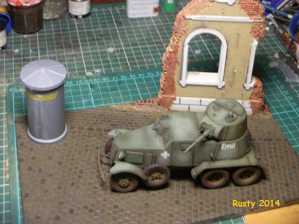 Automitrailleuse Soviétique capturée BA-10 [1/35 ZVEZDA] P7060210