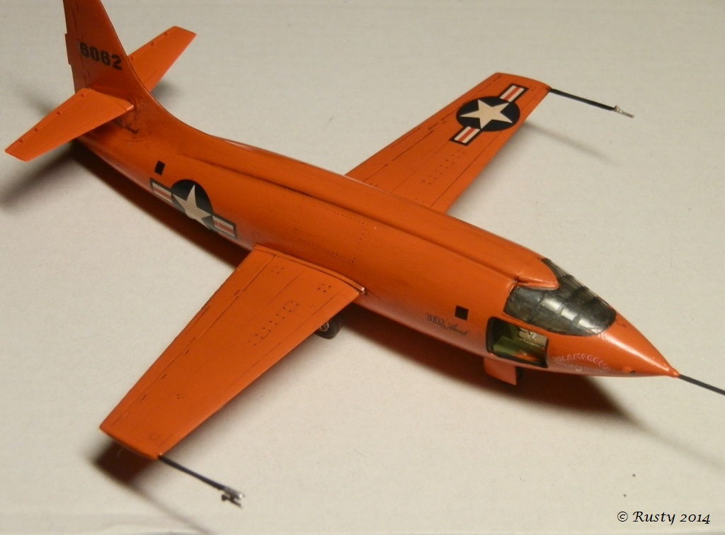 Breaking the sound barrier - Bell X-1 [Tamiya 1/72] P8140311